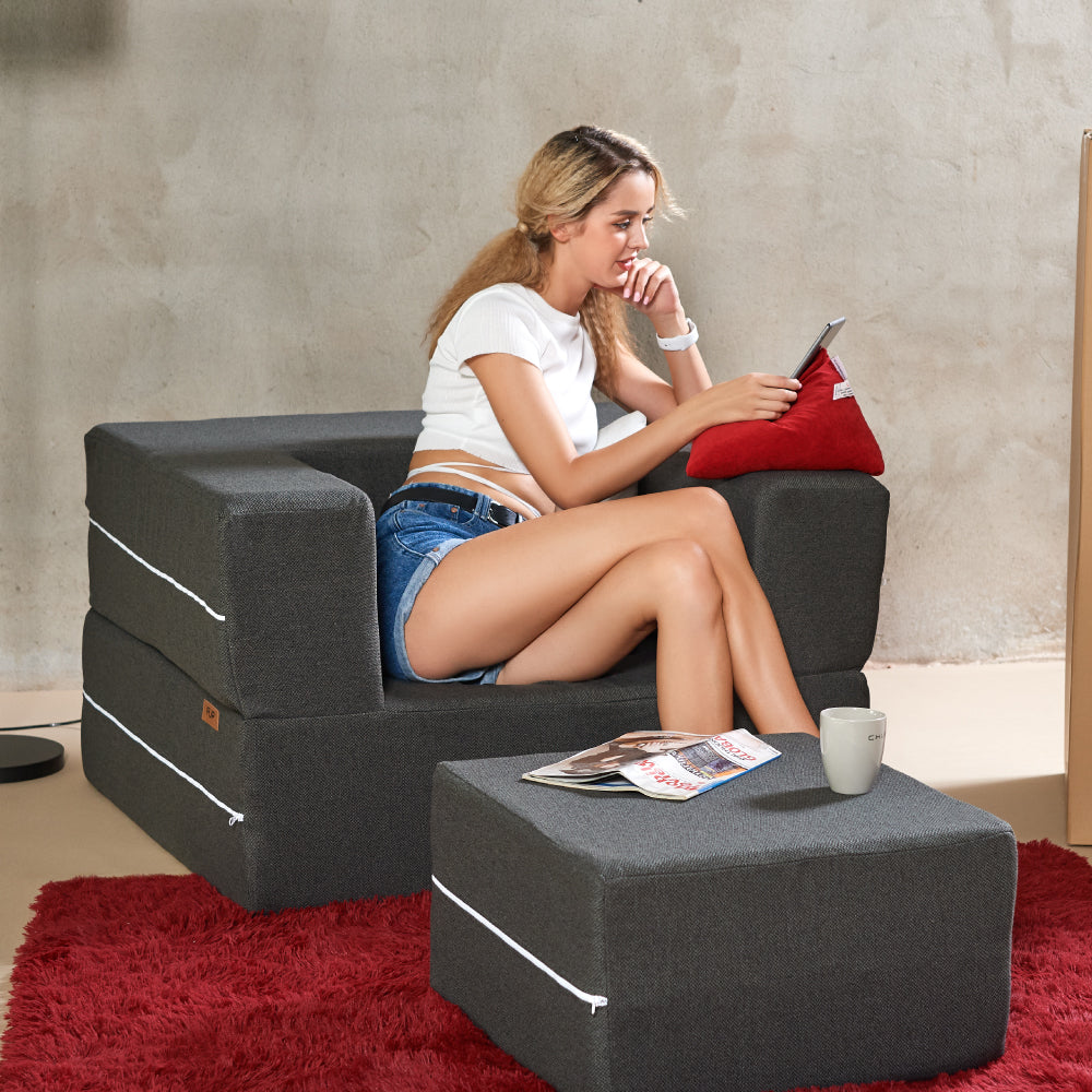 Flip Armchair Twin-size Bed Conversion