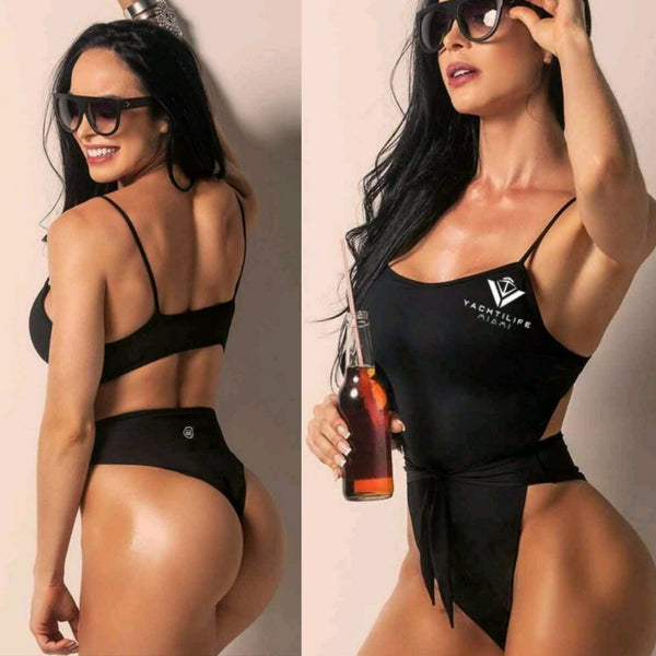 THE BAL HARBOR ALL BLACK ONE PIECE