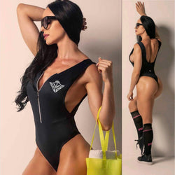 THE YACHT PARTY (WITH ZIPPER) ALL BLACK ONE PIECE