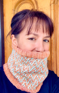 The Find Your Way Cowl hand knit women's luxury neck warmer 100% merino wool