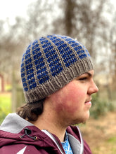 Load image into Gallery viewer, Beanie for the Boyz Man beanie fitted cozy handsome knit hat khaki navy blue wool cap