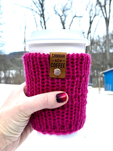 Coffee cozies sweaters for your coffee water bottle beer gifts cute