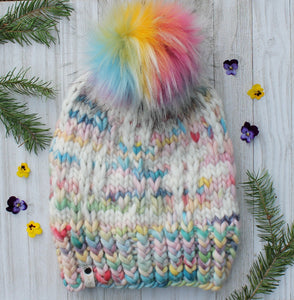 The Hashtag Beanie knit PATTERN