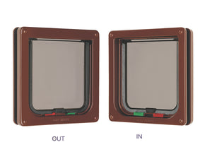 Cat Mate 4 Way Locking Cat Flap 309B Brown