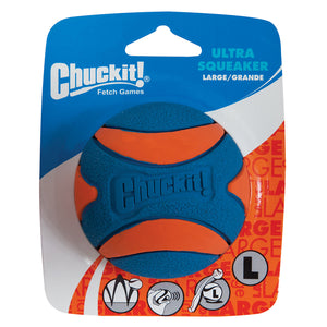 Chuckit Ultra Squeaker Ball 1 Pack Large 7.3cm