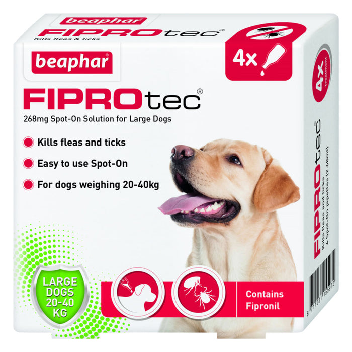 Beaphar FIPROtec Spot On Large Dog  4 pipettes