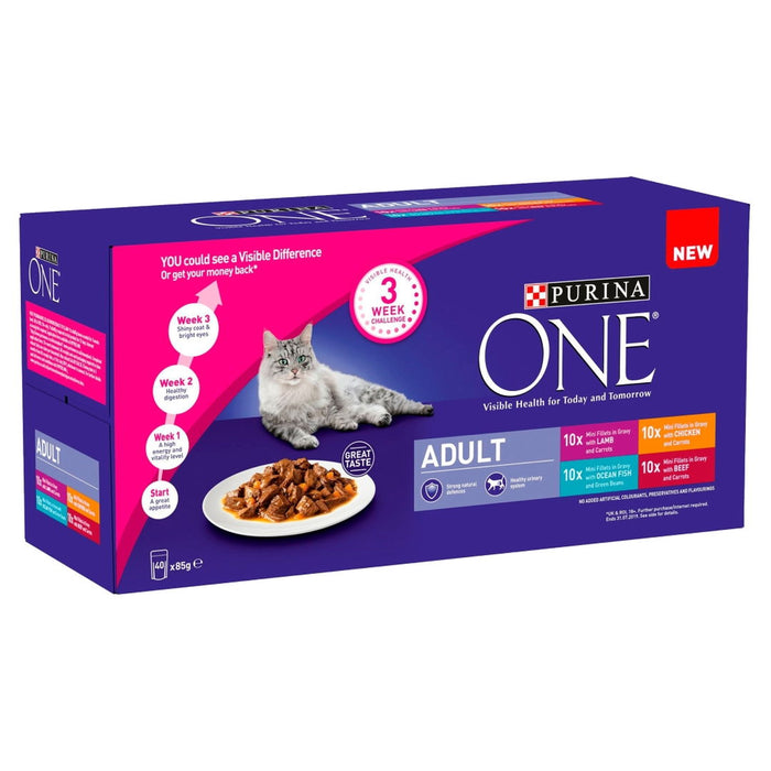 Purina One Mini Fillets Adult Pouch Mixed 40 x 85g