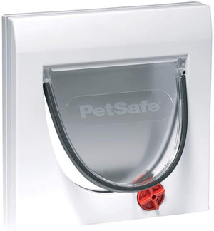 Petsafe Staywell® Manual 4 Way Locking Classic Cat Flap (White, Tunnel included)