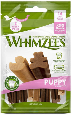 Whimzees Puppy Natural Dental Dog Chews - XS/S 14 Treats