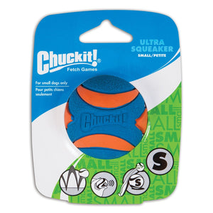 Chuckit Ultra Squeaker Ball 1 Pack Small 4.8cm