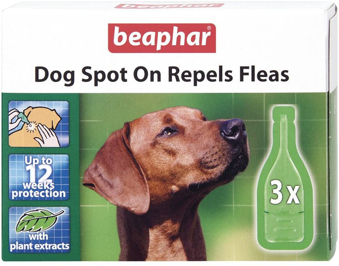 Beaphar Dog Spot on 12 Week Repels Fleas 3 pipettes
