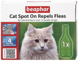 Beaphar Cat Spot On   4 week Protection 1ml x 1 pipette