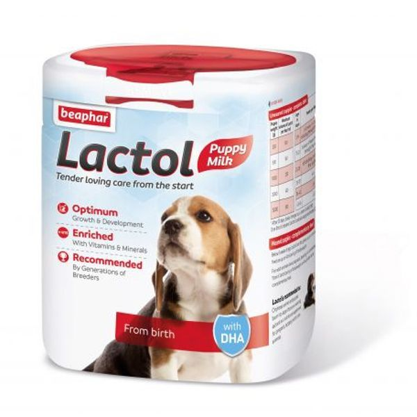 Beaphar Lactol Milk Replacer for Puppies NEW FORMULATION 500g