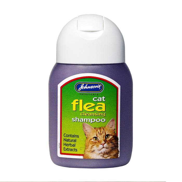 Johnsons Cat Flea Cleansing Shampoo 125 ml