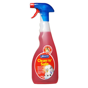 Johnsons Clean 'n' Safe Disinfectant - For Cage Birds 500ml