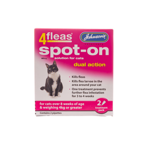 Johnsons 4fleas Spot-On Dual Action - Cat 2 vials