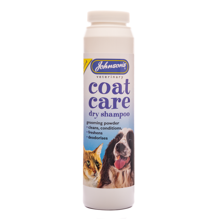 Johnsons Coat-Care Dry Shampoo Powder 85 g Drum
