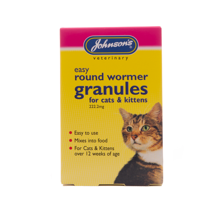 Johnsons Easy Round Wormer Granules for Cats & Kittens  3 x 1 g Sachets