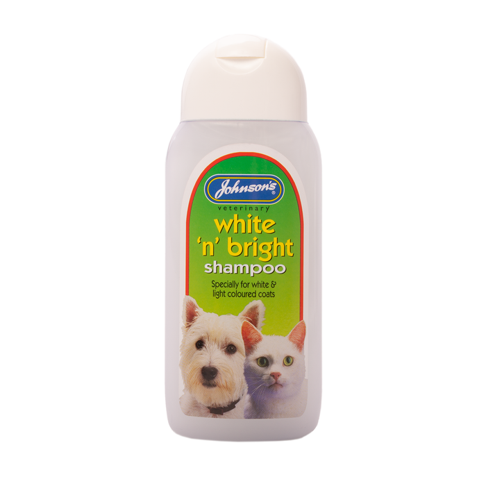 Johnsons White 'n' Bright Shampoo (for white coats) 200 ml