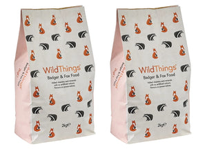 Wild Things Badger and Fox Food - 4kg ( 2 x 2kg)