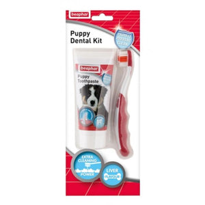 Beaphar Puppy Dental Kit (paste & brush) 50g