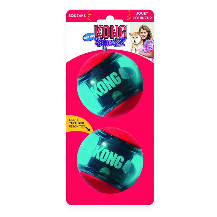 KONG Squeezz Action Balls Red Large