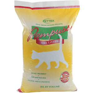 Pettex Pampuss Woodbase Cat Litter 30L
