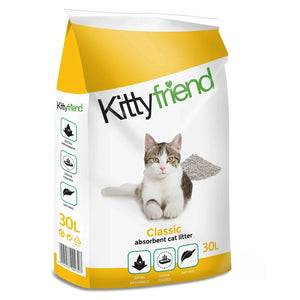 "Sanicat ""Kitty Friend"" Classic Absorbent Cat Litter 30L"