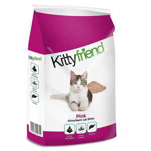 "Sanicat ""Kitty Friend"" Pink Absorbent Cat Litter 30L"