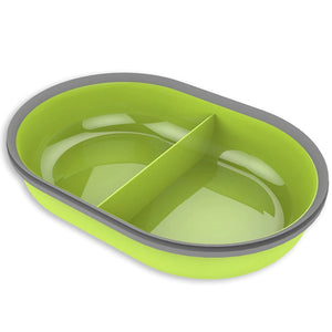 SureFeed Split Bowl Green