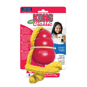 KONG Classic with Rope Large