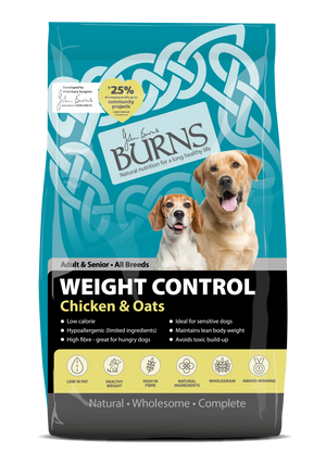 Burns Dog Adult & Senior Weight Control Chicken & Oats 12kg