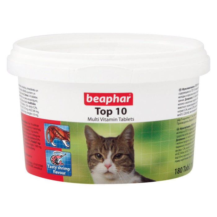 Beaphar Top 10 Vitamin Tablets for cats 180 tab
