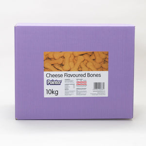 Pointer - Cheese Flavoured Bones - Oven Baked Dog Treats with No Artificial Flavourings, Perfect as a Snack or Training Aid