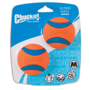 Chuckit Ultra Ball 2 Pack Medium 6.5cm