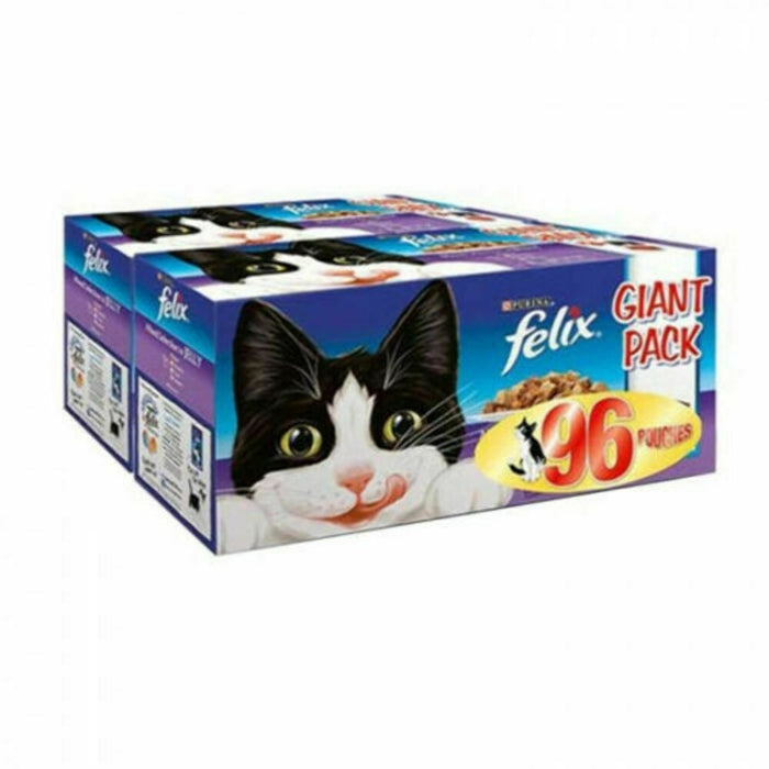 Felix Cat Pouch Mixed Selection in Jelly 96 x 100g