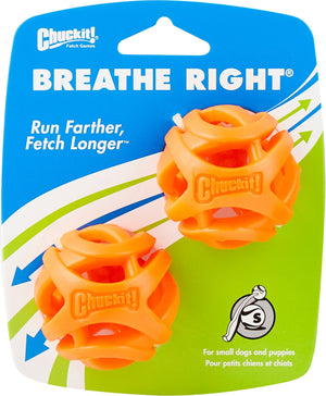 Chuckit Breathe Right Fetch Ball Small (2Pk) 4.8cm