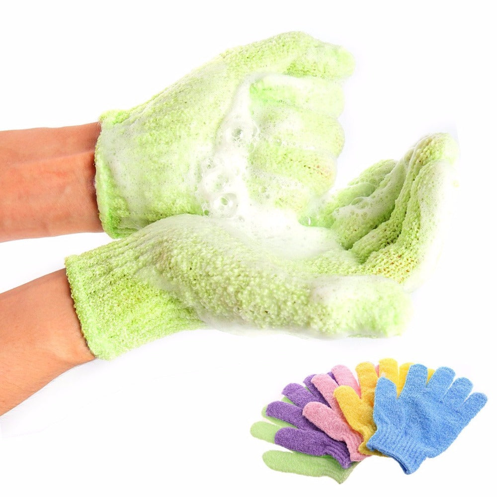 Bath For Peeling Exfoliating Mitt Glove For Shower Scrub Gloves Resistance Body Massage Sponge Wash Skin Moisturizing SPA Foam