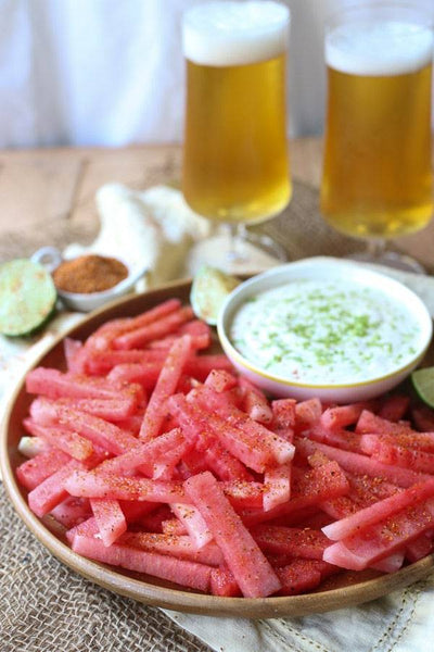 Watermelon Fries with Coconut Lime Dip