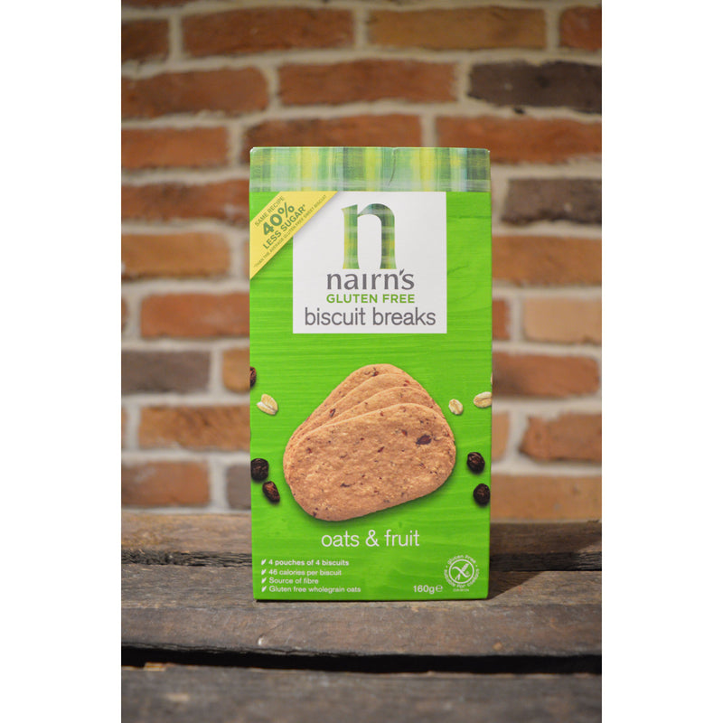 Nairn's Gluten Free Oats and Fruit Oatcakes 160g