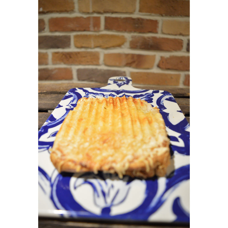 Homemade Toasted Croque Monsieur with Ham