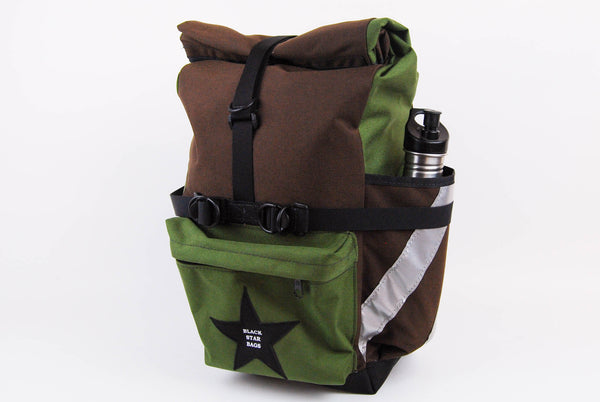Olive and Brown Panniers