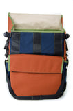 Rust and Navy Flap Top Backpack