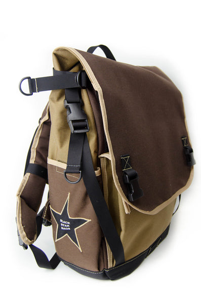 Coyote and Brown Flap Top Backpack