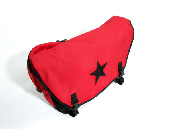 Red and Black Waterproof Messenger Bag