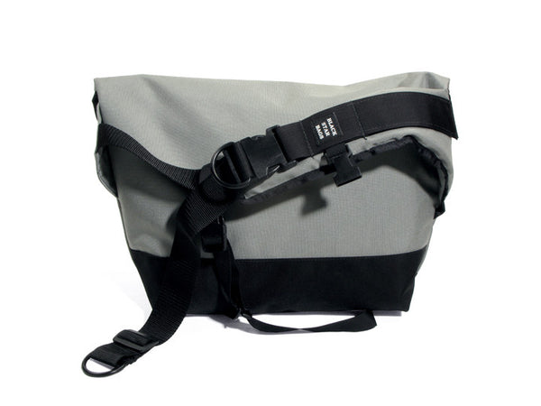 Silver and Black Waterproof Messenger Bag