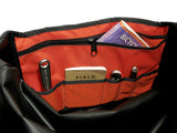 Orange and Black Waterproof Messenger Bag