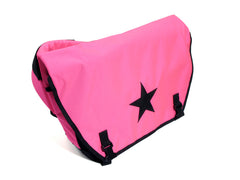 Light Pink or Hot Pink and Black Waterproof Messenger Bag