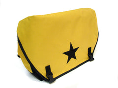 Yellow and Black Waterproof Messenger Bag