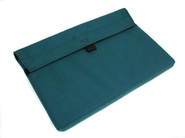Padded case for iPad or MacBook in Teal with Black Stars